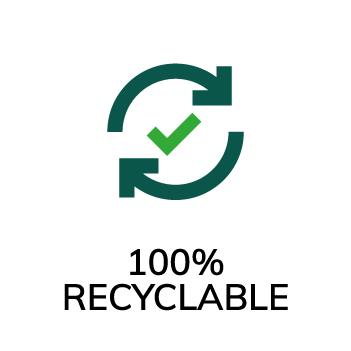 Symbol 100% återvinningsbart trä Accoya