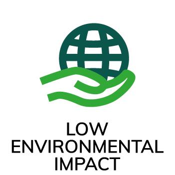 Symbol Liten miljöpåverkan Accoya
