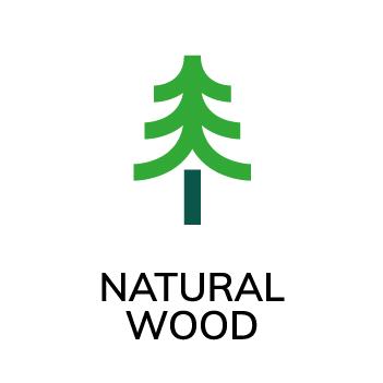 Symbol Naturligt trä Accoya