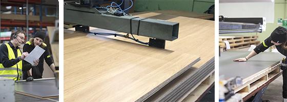 Laminering laminat skivmaterial